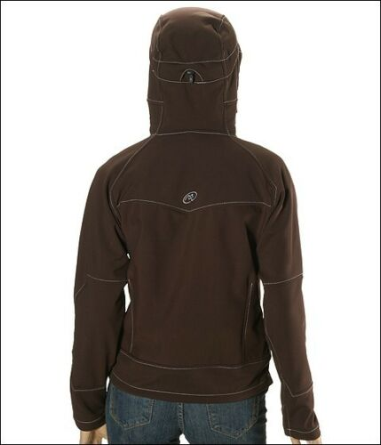a2d9133c89 2 of 7  280 Cloudveil Headwall Brown Hooded Soft Shell Wind Stopper Ski  Jacket Coat XS