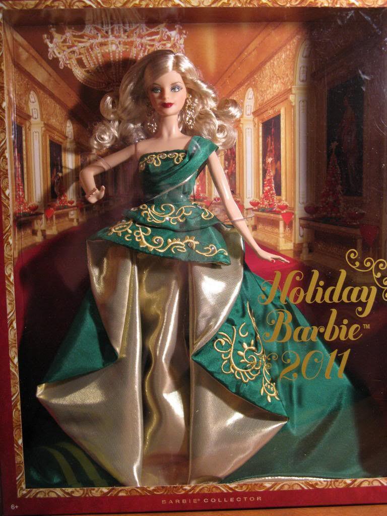 Nuevo En Caja 2011 felices vacaciones Barbie Doll Collector's Edition Envío Gratis Navidad