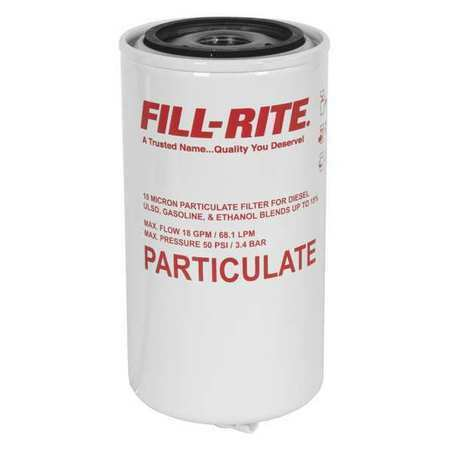 Size Fill-Rite F1810pm1 Fuel Filter,4-1//2 In L,3//4 In