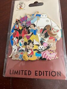 Disney-Employee-Center-DEC-Cluster-Oswald-Cheshire-Olaf-Dumbo-Stitch-LE-250-Pin