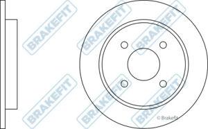 Ford-Focus-Mk1-2-0-2x-Discos-De-Freno-Par-Trasero-solido-de-98-a-04-252mm-Set-brakefit