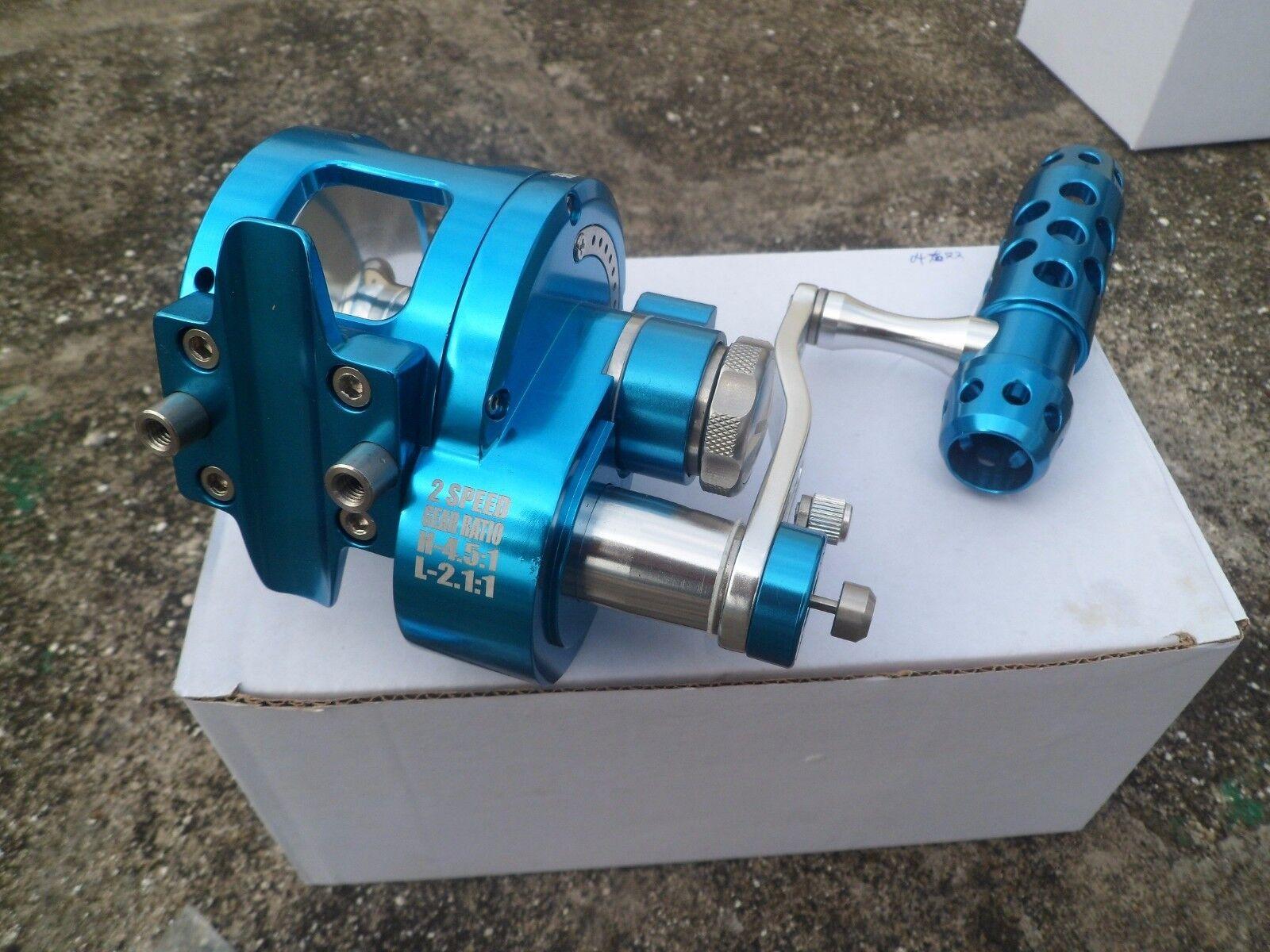 Saltwater Jigging Fishing Reel CNC Full Metal Manufacturing 25KG Drag II 2 Speed