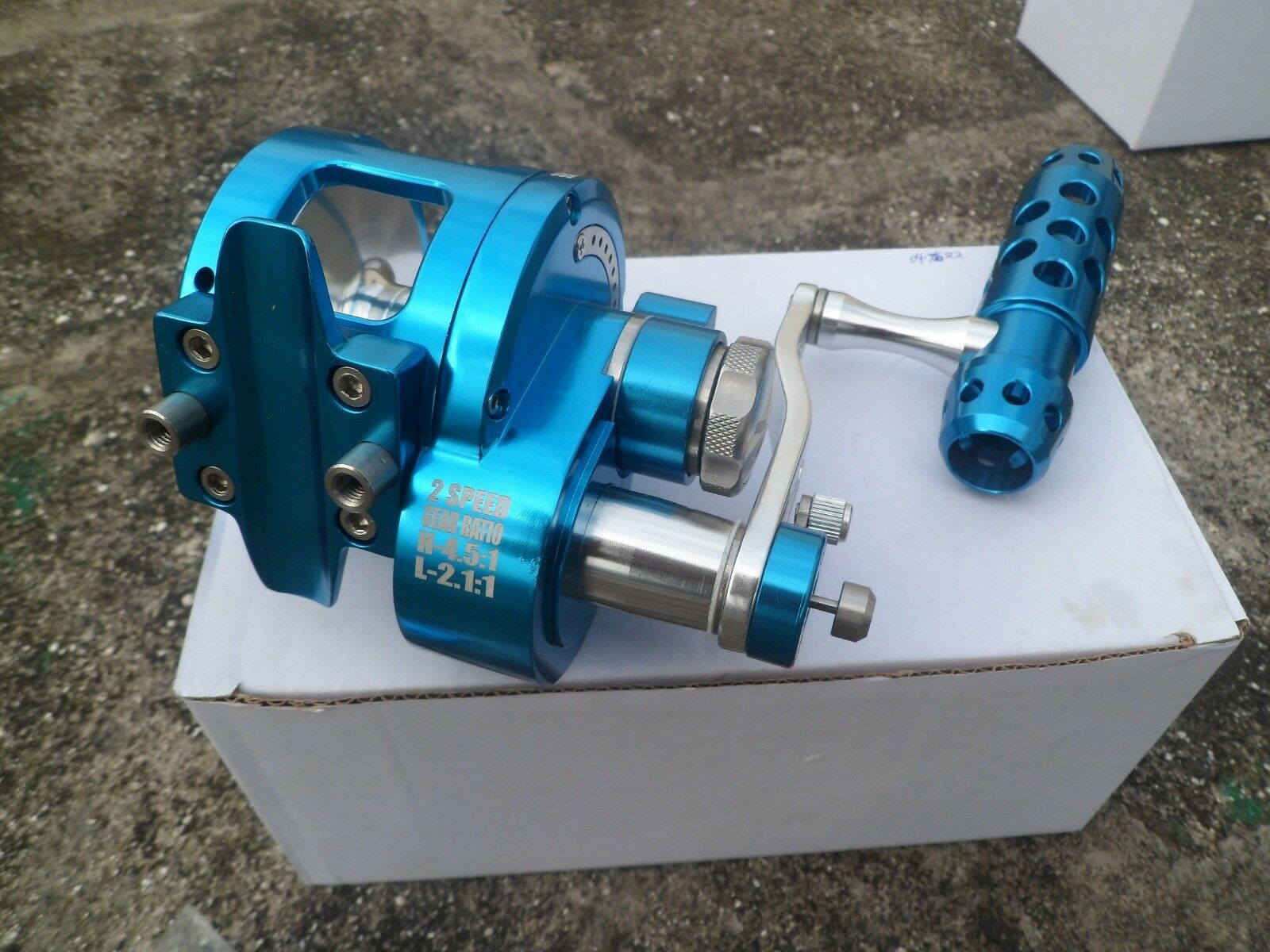 Saltvatten Jigging Fishing Rulle CNC Full Metal Manufacturing 25KG Drag II 2 Hastighet