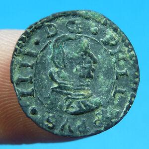 EXCELLENT 1661 PIRATE COB COIN FELIPE IV SPAIN COLONIAL TREASURE TIME PHILIP IV