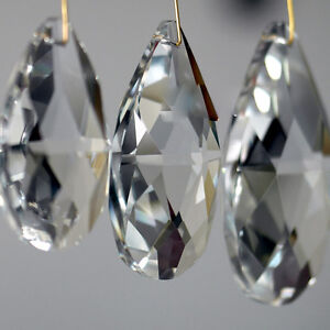 Lots-10Pcs-Clear-Crystal-Glass-Beaded-Chandelier-Light-Prisms-Decor-Pendant-22mm