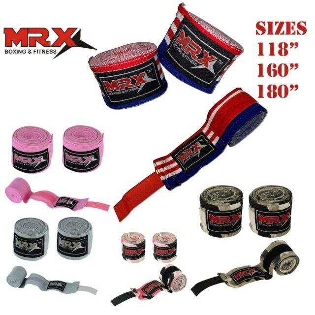 "Hand Wraps 180/"" Bandages UFC Inner Boxing Gloves MMA Muay Thai Kick Boxing 4.5 M"