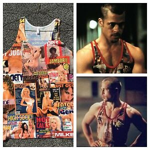 Tyler Durden Fight Club Rare Black Sugar Tank Top Brad Pitt Hustler