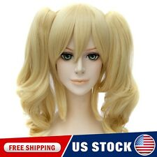 Blonde Fancy Dress Wigs Lolita Rebellion Anya Alstreim Cosplay Clip On Ponytails