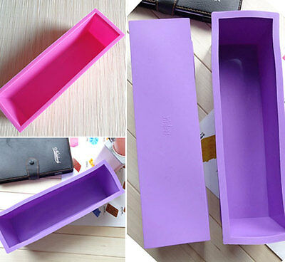 HOT Rectangle Brick Soap Pastry Toast Bread Loaf Cake Silicone Mold Bakeware