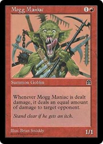 MOGG MANIAC Stronghold MTG Red Creature — Goblin Unc