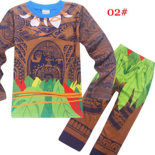 Pants Costume Cosplay Halloween Outfits Pyjamas Moana Maui Kids Boys T-shirt