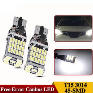 2PCS-Canbus-Error-4014-45SMD-T10-T15-W16W-LED-Reverse-Backup-Bright-White-12-24V