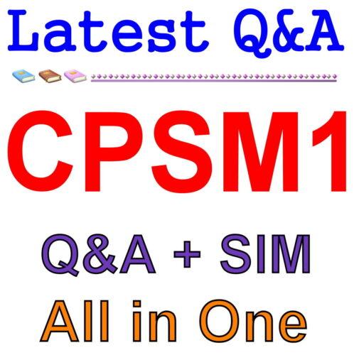 ISM Foundation of Supply Management CPSM1 Exam Q/&A PDF+SIM