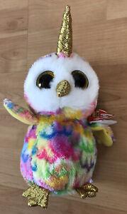 Ty Beanie Boos - ENCHANTED the Unicorn Owl / Uniowl (6 Inch) 2020 NEW