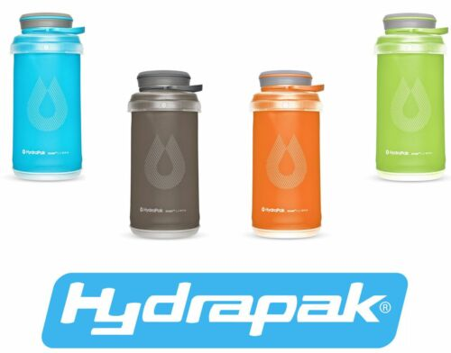 HydraPak Stash Bottle Collapsible Water Bottle 1L VArious Colour Options