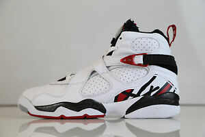 8d56e40da4748d Nike Air Jordan Retro 8 Alternate White Red BG GS 305368-104 4-7 3 ...