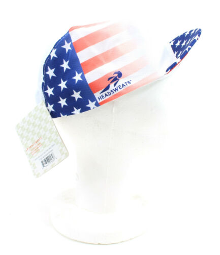 Stars and Stripes Headsweats Classic Retro Cycling Cap Hat One Size