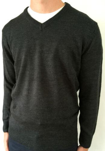 Maine New England Mens Long Sleeve V-Neck Grey Knitwear Jumper Sweater Sale