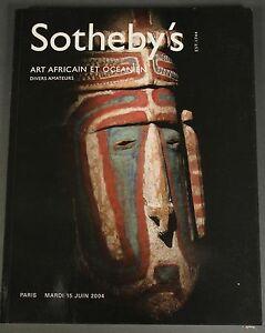 Sotheby's African & Oceanic Art Africain, Oceanien 2004 Paris Sothebys