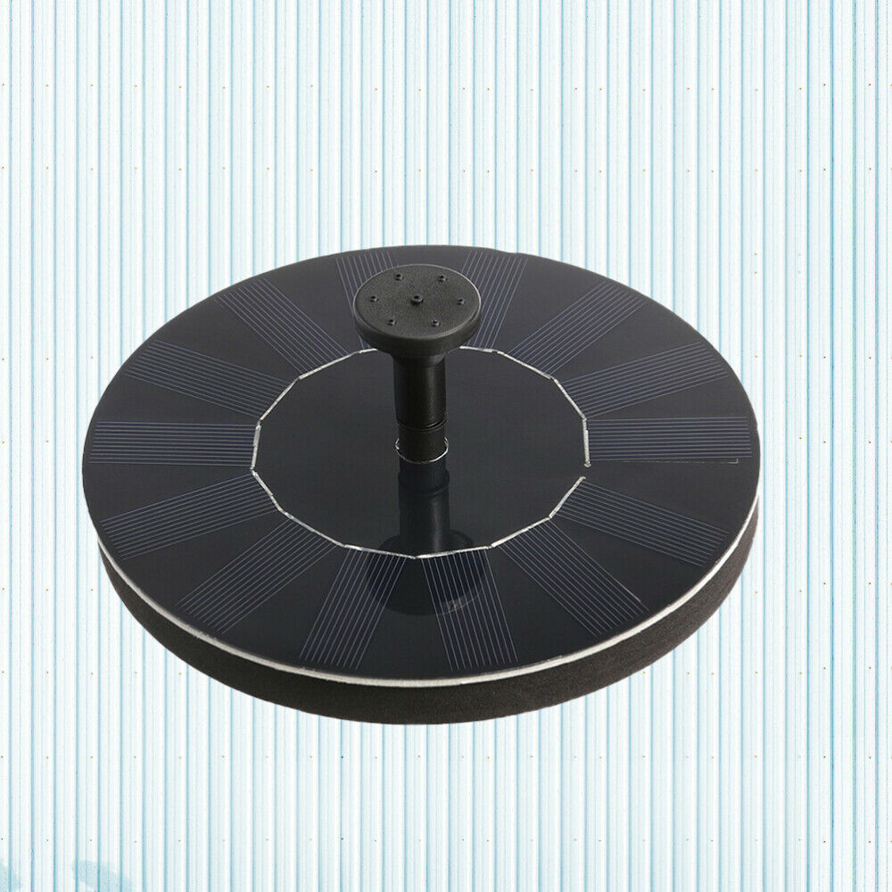 1 Pc Solar Fountain Floating 1.5W 210L/h Round Water Pump for Pond Garden