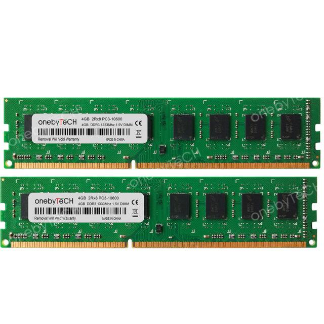 New 8GB (2x4GB) PC3-10600 DDR3-1333 DESKTOP MEMORY For HP Compaq 8000 Elite  SFF
