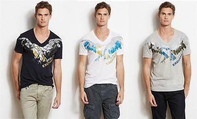 New Armani Exchange AX Mens Slim/Muscle Fit Pieced Eagle Tee Shirt