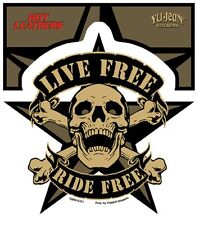 Live Free Ride Free Scull Sticker Aufkleber MC Rockabilly,Old School,Motorcycles