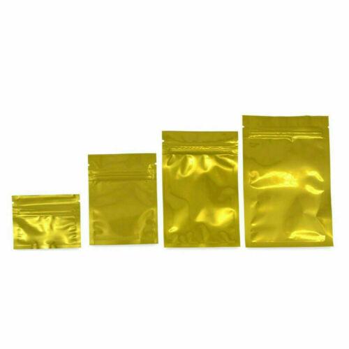 100pcs Colorful Mylar Foil Zip Lock Pouch Food Storage Bag Waterproof Resealable
