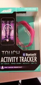 AVIA-Touch-Activity-Tracker-Bluetooth-Water-Resistant-w-2-Bands-Pink-Black
