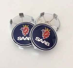 Saab Centro Tapacubos ruedas de aleación X 4 Set 60mm 9-3 93 95 900 9-5
