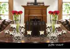 10 bulk lot VASE black Candle holder candelabra floral wedding table centerpiece