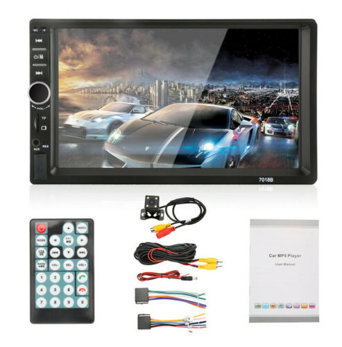 2 DIN 7inch HD Bluetooth Car Stereo Radio MP5 Player Touch Screen /& Rear Camera