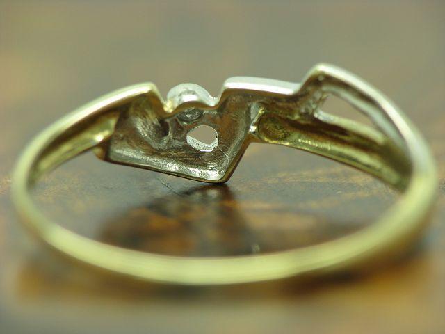 8kt 8kt 8kt 333 oro ANELLO con diamante solitario guarnizione in 0 8g RG 53 5 6efc45
