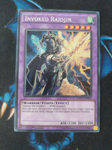 Invoked Raidjin FUEN-EN028 Secret Rare 1st Edition YuGiOh