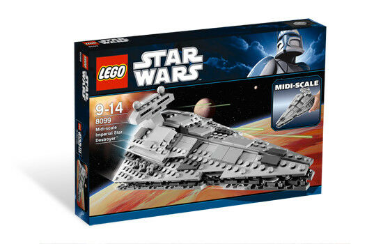 LEGO 8099 Star Wars Midi-Scale Imperial Star Destroyer  Sealed Box