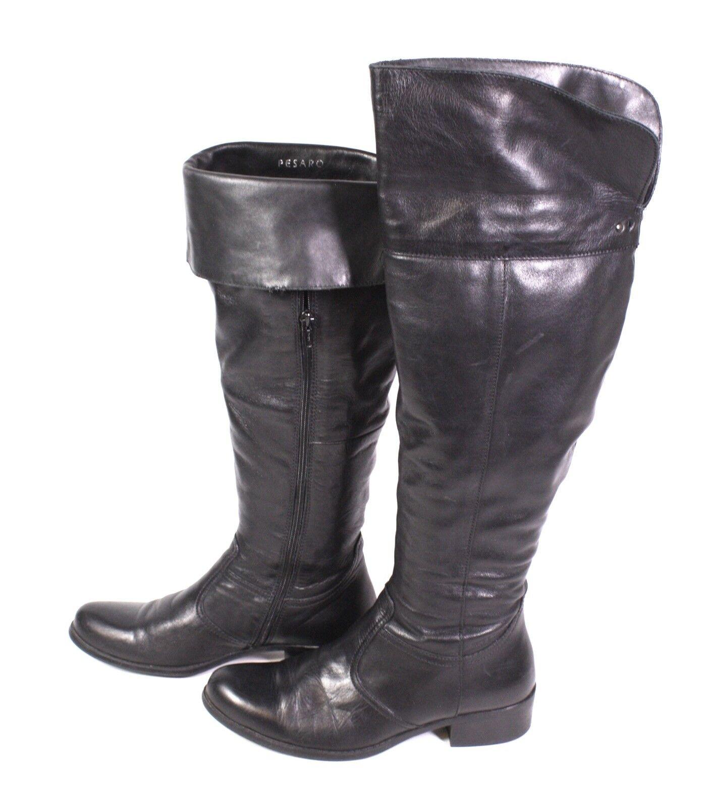 2s Pesaro Pesaro 2s botas altas señora botas polainas botas motorista cuero negro Gr. 37 a96462