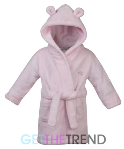 Bebé Niñas Vestido De Bebés Rosa Albornoz Kimono Bata de baño con capucha vestido de Lisa 6-24 M