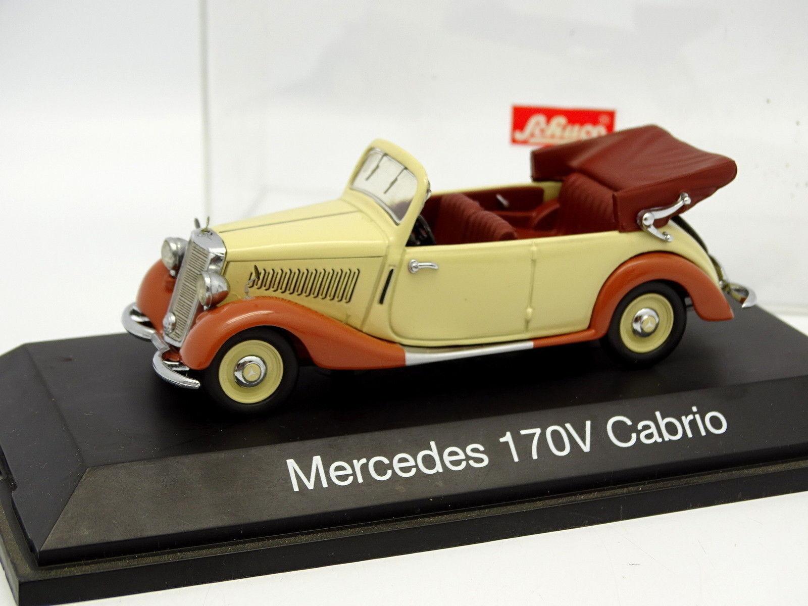 Schuco 1 43 - Mercedes 170V Cabriolet Beis brown