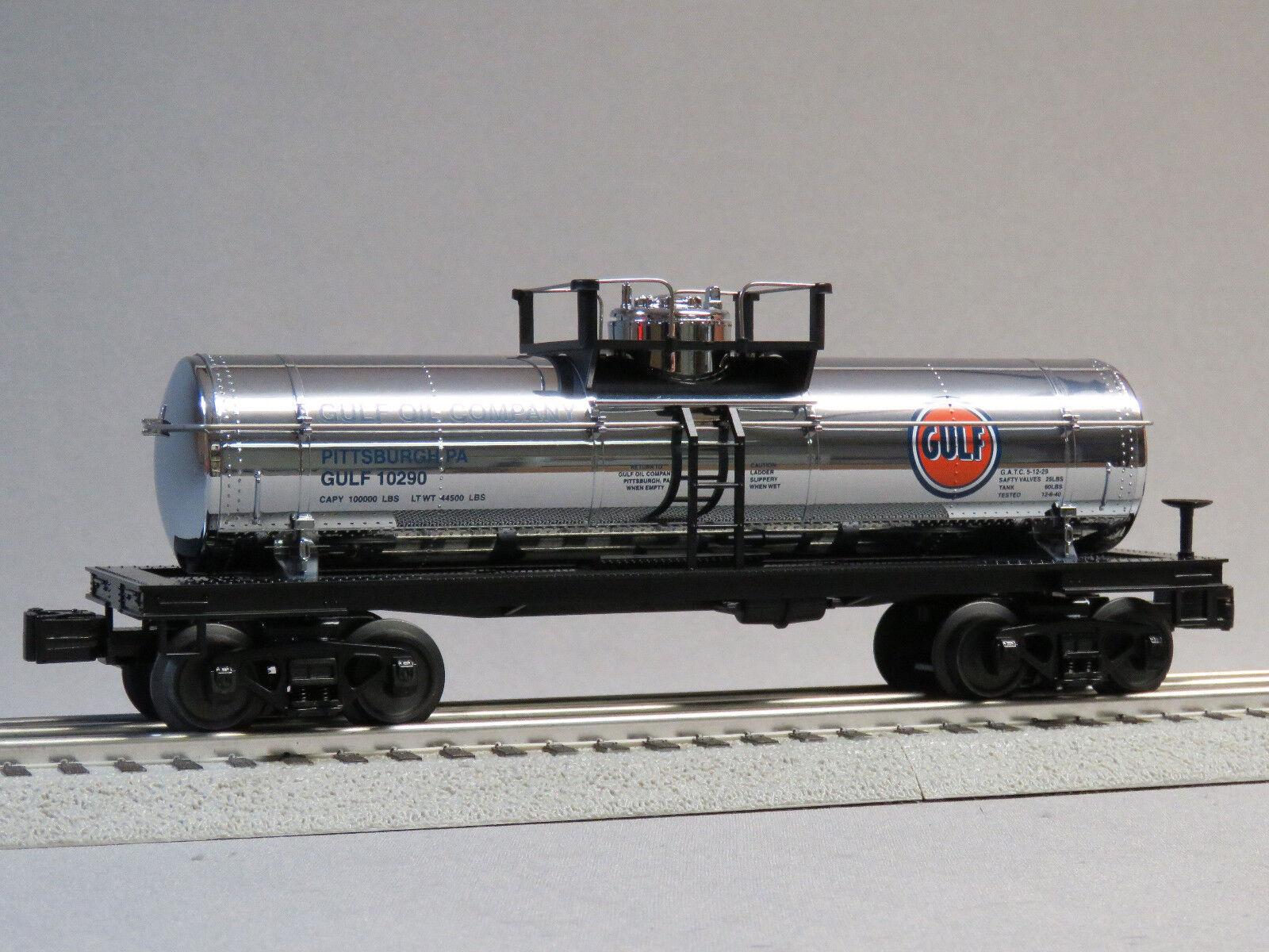 MTH RAIL KING GULF TANK CAR 10290 O GAUGE train Pittsburgh PA 30-4244-1-T NEW