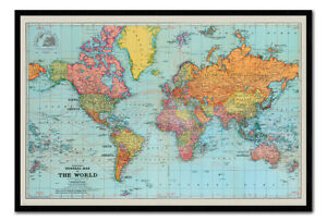 Retro general map of the world poster magnetic notice board inc image is loading retro general map of the world poster magnetic gumiabroncs