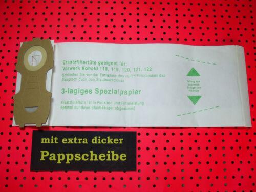 10-100Staubsaugerbeutel geeignet für  Kobold 118 119,120,121,122,dicker Pappe