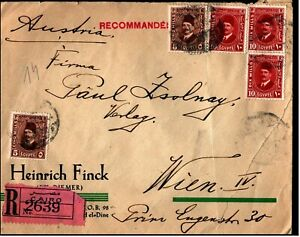 Egypt-Circa-1930-039-s-Registered-Cairo-cover-to-Vienna