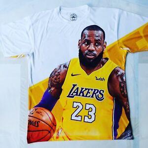 new arrival 60c69 8c085 Details about Custom Lebron James T shirt LA basketball los angeles