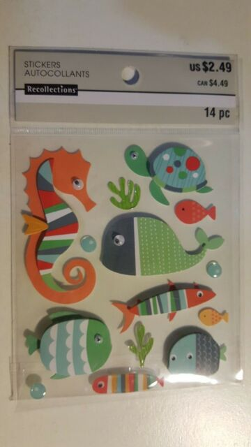 Buy 3 Get 2 FREE Jolee/'s Sticko Dimensional Stickers Sealife Beach Shells