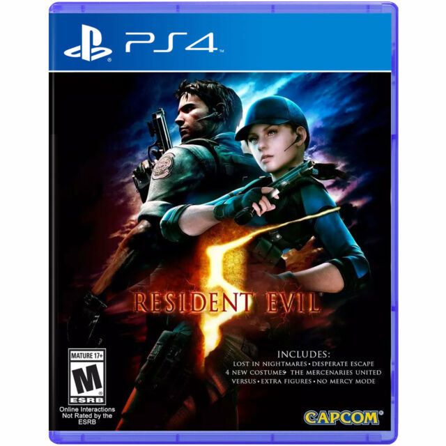 Resident Evil 5 Videogame For Sony PS4 Games Console New Sealed