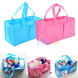 Portable Travel Baby Diaper Nappy Changing Organizer Insert Storage Bag Handbag