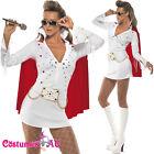 Ladies White Elvis Presley Viva Las Vegas Costume 50s 1950s Rock Fancy Dress