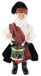 The Holiday Aisle Scottish Drummer Santa