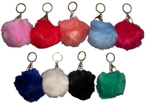 Pompon en fourrure synthétique porte-clés pour sacs à main Sacs 6 PC Lot pomkc 4 *