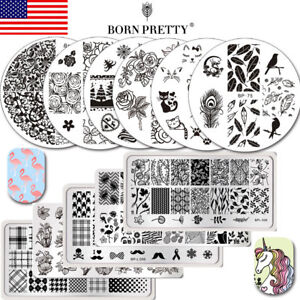 BORN-PRETTY-Nail-Art-Stamping-Plates-Lot-Image-Stamp-Template-Stencil-Tools-Kit